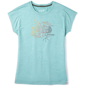 Smartwool Merino Sport 150 Mountain Reflection T-shirt Damer, wave blue heather